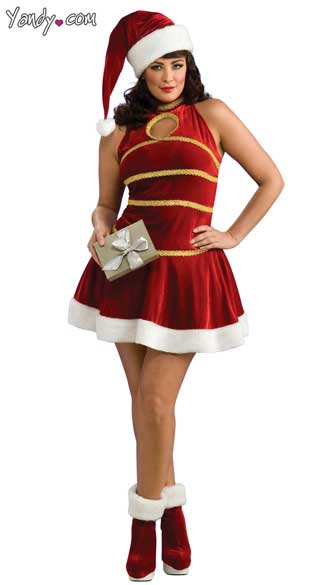 Plus Size Sexy Miss Santa Costume, Sexy Plus Size Santa Costume