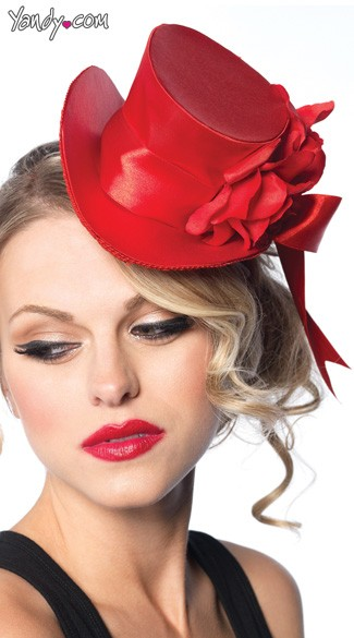 Satin Top Hat - Red
