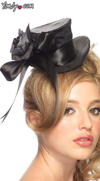 Satin Top Hat - Black