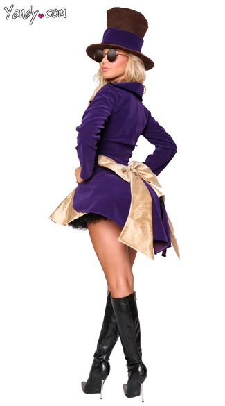 Yandy Chocolate Factory Girl Costume - Purple/Gold