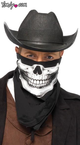 Skull Bandana - Black/White