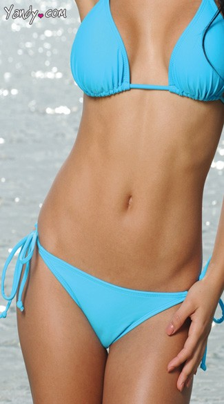 Solid Color Bikini Bottom - as shown