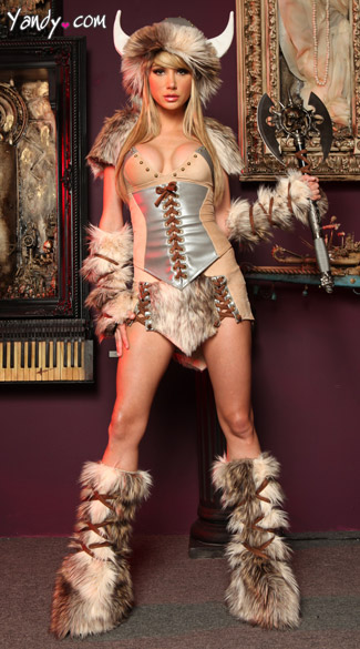 The Viking Deluxe Costume - Tan