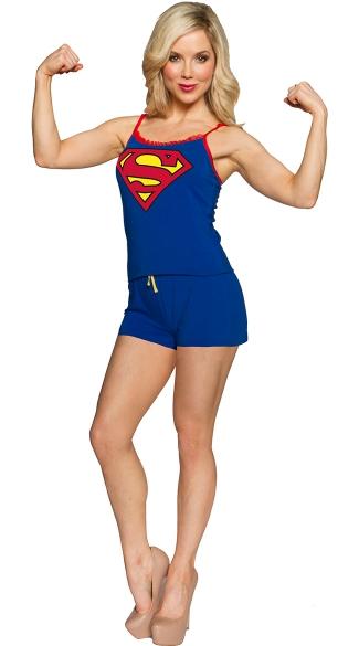 Superman Romper Pajamas - As Shown