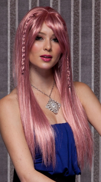 Pink Long Straight Wig - Pink Venom