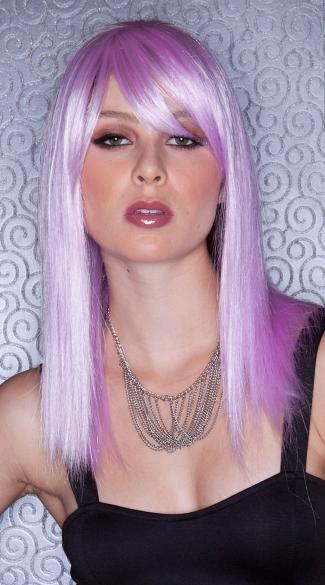 Light Purple Straight Wig - Lilac