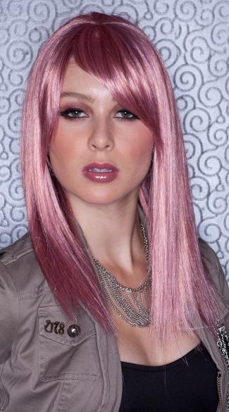 Soft Pink Straight Wig - Pink Venom