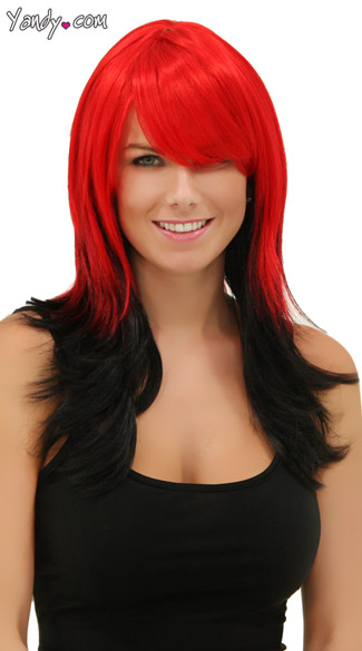 Red Night Layered Wig - Red Nite