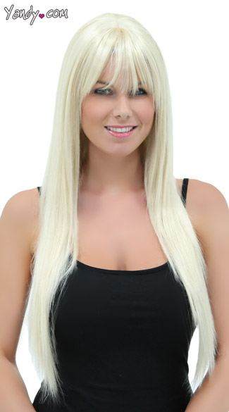 California Blonde Straight Layered Wig, Blush Jewel Cali Blonde Wig, Long Blonde Wig