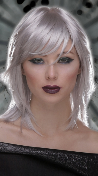 Chrome Rocker Layers Wig - Chrome