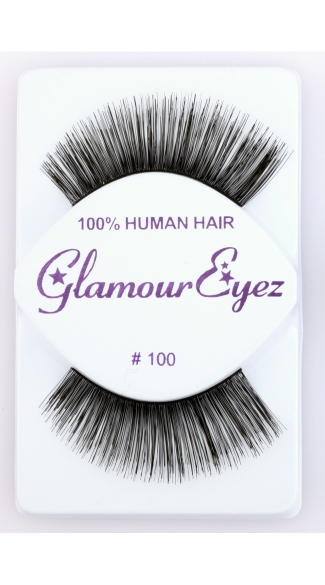 Thick Long Natural False Eyelashes - Black