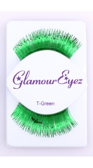 Metallic Green Eyelashes - Green