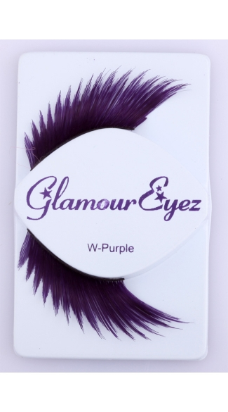 Purple Wicked Eyelashes, Costume Eyelashes, Shaped Eyelashes