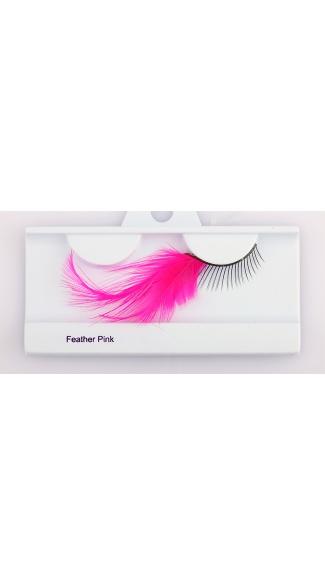 Pink Feather Eyelash - Pink