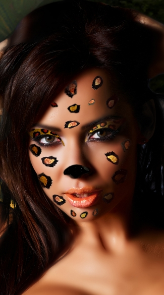 Cheetah Face Kit, Cheetah Costume Stickers, Cheetah Face Stickers