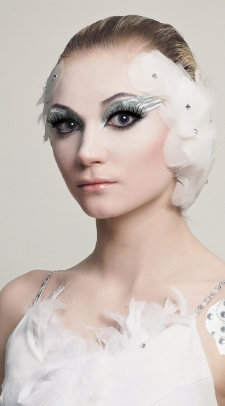 White Swan Eyes, White Swan Eye Kit, White Swan Costume Eyes, Light Swan Eye Kit
