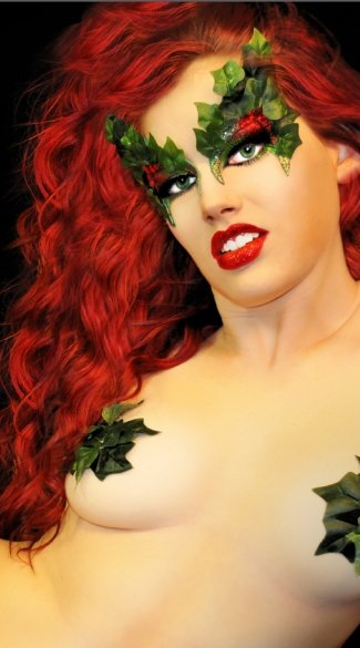 Toxic Poison Ivy Eyes, Ivy Leave Eye Stickers, Eve Costume Eye Stickers