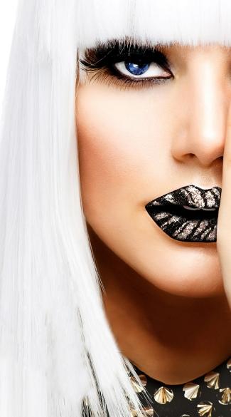 Silver Zebra Lip Sticker - Zebra Print