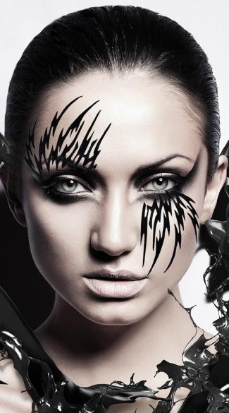Succubus Mask - Black