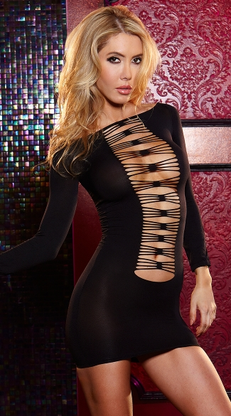 Thru The Wire Mini Dress Black Net Dresses Party Dresses