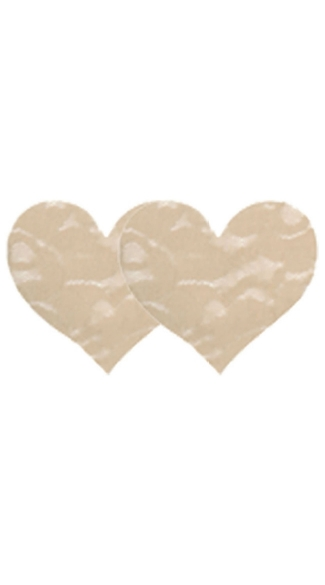 Nude Lace Heart Pasties, Beige Lace Heart Pasties, Nude Heart Pasties