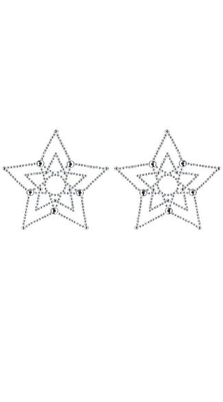 Diamond Crystal Star Pasties - Crystal Star
