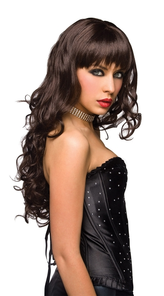 Missy Brown Long Curly Wig - Brown