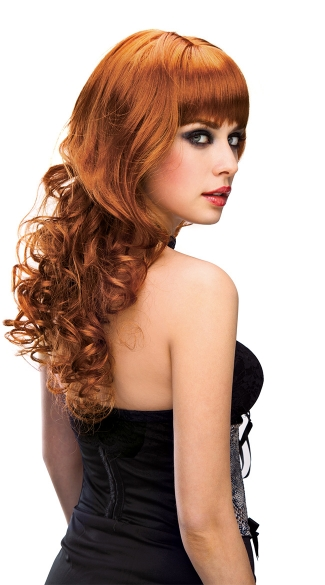 Missy Red Long Curly Wig - Red