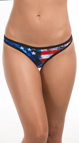 Phrase american flag string bikini