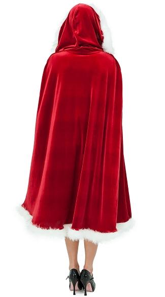 Velvet Santa Cape - Red