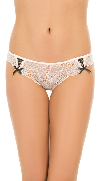 Yandy After Hours Mauve Lace Thong - Mauve