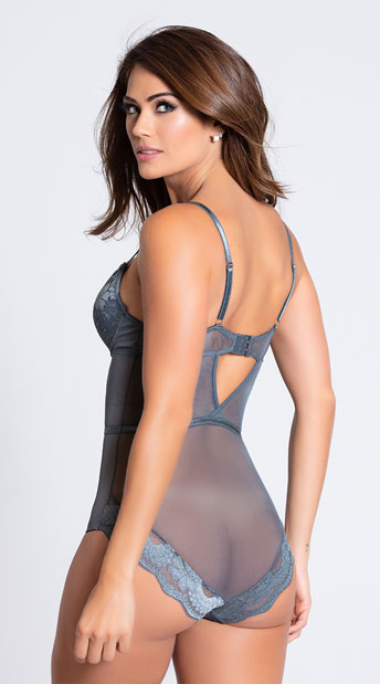 Yandy's The Beverly Bodysuit - Grey