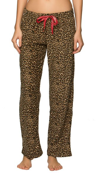 Leopard Fleece Pajama Pant, Animal Print Fleece Pants, Leopard Pajama Pants