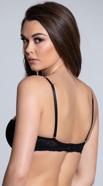 Yandy Get Kissed Black Lace Bra - Black