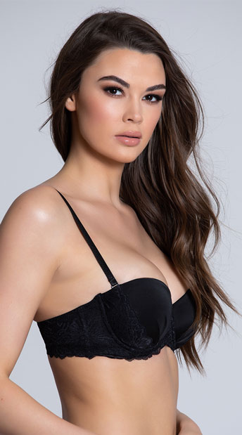 Yandy Fabulace Black Lace Bra - Black
