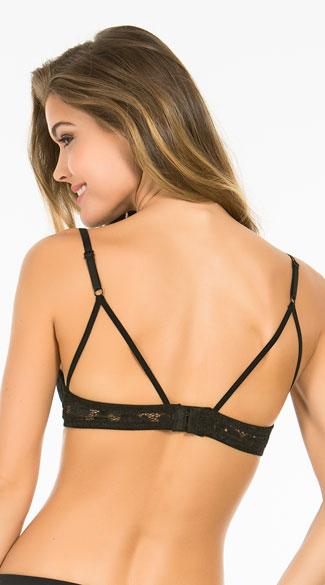 Yandy Summertime Black Lace Bra - Black