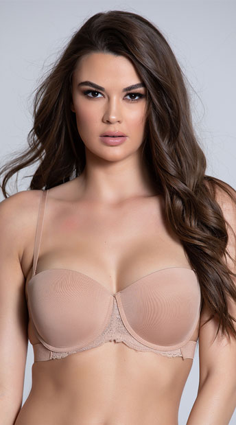 Yandy Nude Strappy Solution Bra - Nude