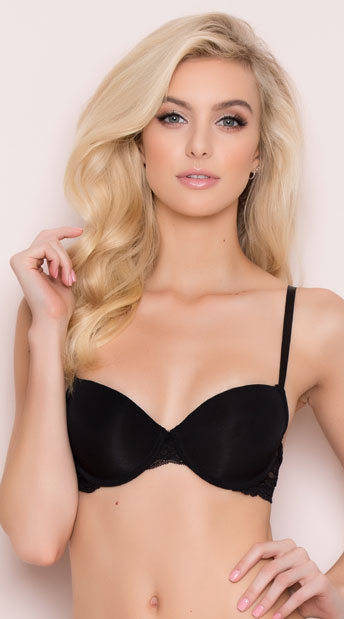383417605a Yandy After Hours Black Demi Bra - Black ...