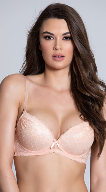 Yandy Inside Look Nude Lace Bra - Sand
