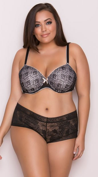 a10e8c0fec101 Yandy Plus Size All Around Town Black Bra - Black ...