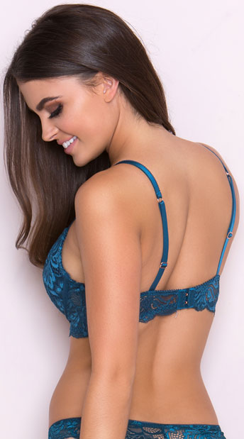 Yandy's The Hollyanne Blue Bra - Blue