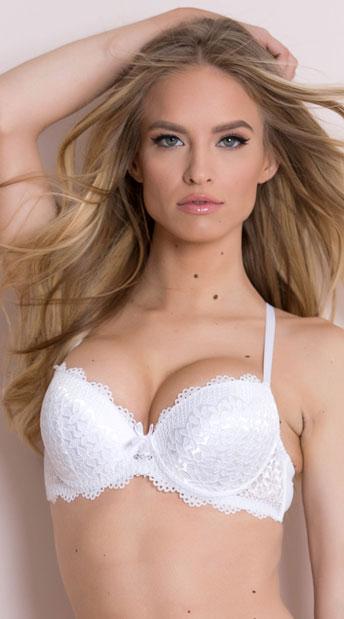 Yandy Flower Bed White Bra, white lace bra - Yandy.com