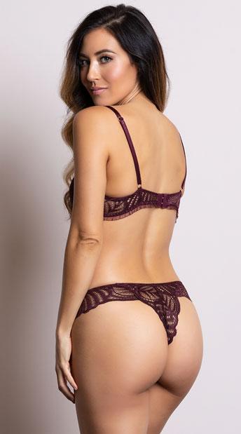 Yandy Sweet As Can V Burgundy Panty - Burgundy
