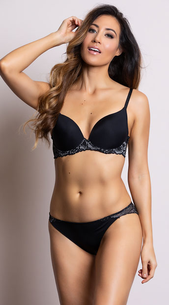 Yandy Decadent Opulence Black Bikini Panty - Black