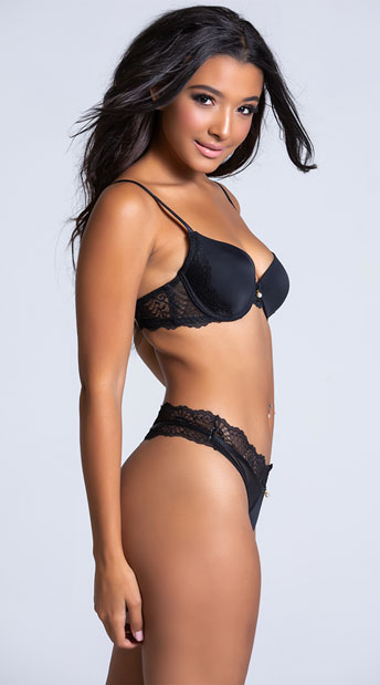Yandy The Marcelle Black Thong - Black