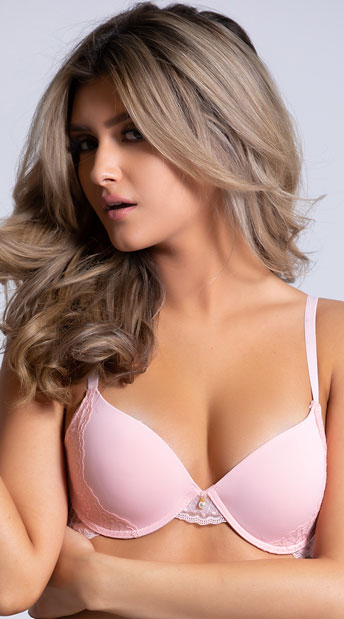 Yandy The Marcelle Perfect Coverage Pink Bra - Pink
