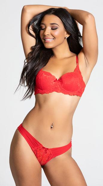 Yandy Make Me Blush Red Bikini Panty - Red