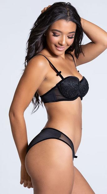 Yandy Eye Candy Black Bikini Panty - Black