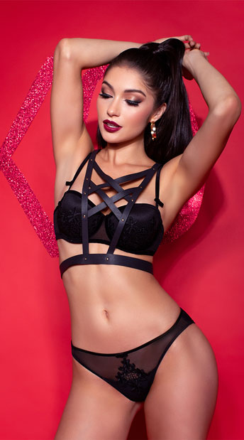 3cb39ff853 Yandy Eye Candy Black Multi-Way Bra - Black ...