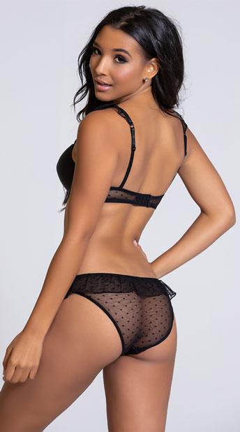 Yandy Frill Seeker Black Bikini Panty - Black